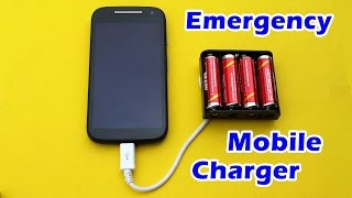 getlinkyoutube.com-How to Make an Emergency Mobile Phone Charger using AA Batteries