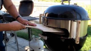 getlinkyoutube.com-KettlePizza attachment on Weber One Touch Gold