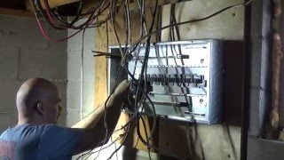 getlinkyoutube.com-The Electrical panel change.......Installation of the new panel and wires