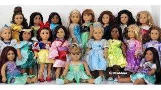 getlinkyoutube.com-American Girl Dolls as All Disney Princesses ~ Custom American Girl Dolls ~AGSM~ UPDATED SQUAD