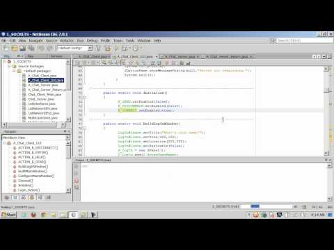 Java - Sockets - Coding a Client-Server CHAT Room - 2 of 3