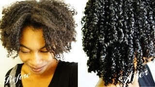 getlinkyoutube.com-Wash N Go| Gel Technique| Kinky-Coily Hair (4b-4a-3c)