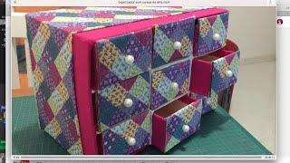 getlinkyoutube.com-DIY - Organizador porta-trecos #parte 2  ✂️ Artesanato #27