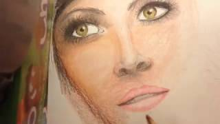 Colored Pencil face drawing