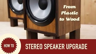 getlinkyoutube.com-Rebuilding Sony Stereo Speaker Set | Upcycle Project