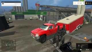 getlinkyoutube.com-Farming Simulator 2015 Mods- 95 Dodge 12v Cummins, Suburban, and Trailers