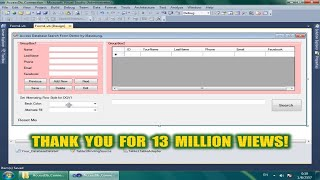 getlinkyoutube.com-Visual Basic .Net : Search in Access Database - DataGridView BindingSource Filter Part 1/2