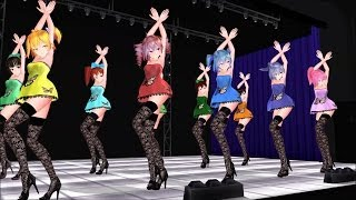 getlinkyoutube.com-[MMD] Girls [Butterfly Miku, Teto, Luka, Haku, Neru, Gumi, 123s] model download