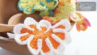 getlinkyoutube.com-How to Crochet A Dishcloth: Chrysanthemum Style