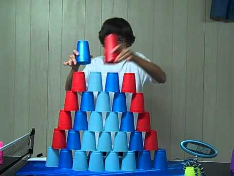 MINUTE TO WIN IT: Sport Stacking / Stack Attack In 10.81 Seconds