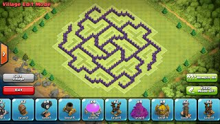 Clash of Clans- Town hall 9 farming base (The Rose)