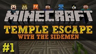getlinkyoutube.com-Minecraft Temple Escape #1 with The Sidemen (Minecraft Trolling)