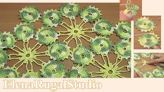 Crochet Small Round Motif Tutorial 3 How to Join Crochet Motifs