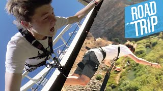 getlinkyoutube.com-BUNGEE JUMPING WOHOOO!! :D | #ROADTR7P Tag 6 | Dner