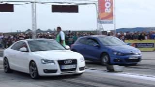 getlinkyoutube.com-DRAG RACING ARAD:AUDI A5 3.0(380BHP) vs VW SCIROCCO