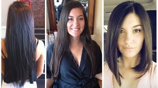 Long to Bob Haircut Makeover | From Long Hair to Bob Cut - Long to Bob Hair Cut width=