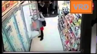 Shopper caught on camera tasting ice cream and puts it back