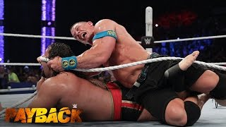 "getlinkyoutube.com-WWE Network: Lana puts an end to the ""I Quit"" Match between John Cena and Rusev: WWE Payback 2015"