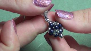 Beaded Ball Earrings Tutorial