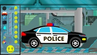 getlinkyoutube.com-Police Car | Police Car Repair | Car Garage | Car Repair | kids videos