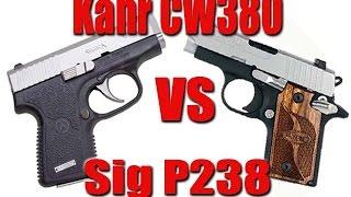 getlinkyoutube.com-Kahr CW 380 vs Sig P238  Pocket Pistol Showdown 2