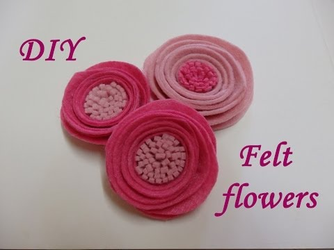 DIY Felt flowers,Tutorial,How to,easy fabric flowers,felt roses