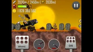 getlinkyoutube.com-Hill Climb Racing Fully Upgraded Police Car on Haunted! HD