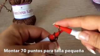getlinkyoutube.com-TEJE TORERITA VIENA - Tejida en gancho y agujas fácil y rápida - Tejiendo con LAURA CEPEDA