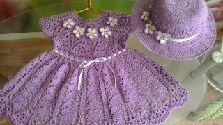 getlinkyoutube.com-Crochet baby dress| How to crochet an easy shell stitch baby / girl's dress for beginners 180