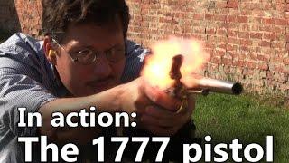 getlinkyoutube.com-The French 1777 flintlock pistol in action
