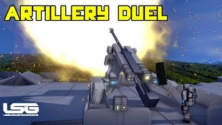 getlinkyoutube.com-Space Engineers - Artillery Duel 1v1