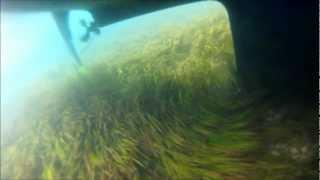 Grounding of Malö 42 sailing yacht, GoPro underwater view Îles des Glénan France