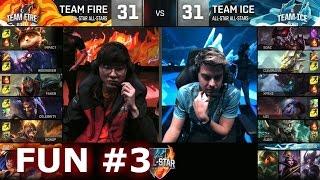 Ice vs Fire fun (troll) Show Match 3 - Faker Zhonya Zed vs xPeke Maokai   LoL All-Star 2016 Day 4