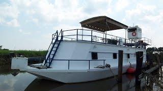 getlinkyoutube.com-[UNAVAILABLE] Used 2012 Custom Built Houseboat 70 Steel Barge in Erath, Louisiana