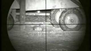 getlinkyoutube.com-Pig Farm Rat hunting 9 using an Air Arms S410k air rifle and a Nitesite NS200