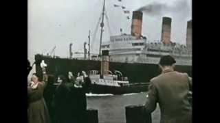 """getlinkyoutube.com-RMS Aquitania """"Cunard's Last Four Stacker"""""""