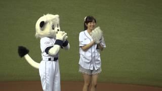 getlinkyoutube.com-「劇場版 あの花 超平和ライオンズデー」 茅野愛衣さん始球式