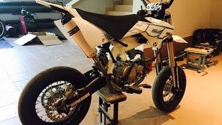 getlinkyoutube.com-Mini Supermoto Bike | YCF 150 SM | first ride | pit bike pierwsza jazda na oponach od super moto