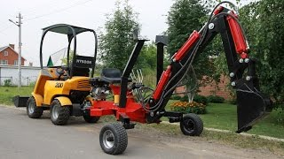 getlinkyoutube.com-The cheapest towable backhoe HBP-9. Full review, all the truth.