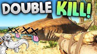 "Stranded Deep Gameplay - ""DOUBLE TIGER SHARK KILL!!!""  - Let's Play Walkthrough"