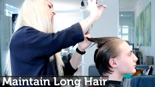 getlinkyoutube.com-Maintaining men's long hair while growing it out