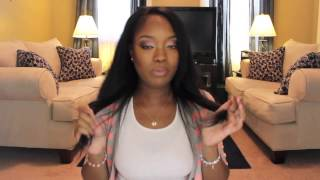 getlinkyoutube.com-Natural black clip in hair extensions for black women
