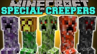 getlinkyoutube.com-Minecraft: SPECIAL CREEPERS (4 FACED CREEPER, JUMPING CREEPER, BABY CREEPER, & MORE!) Mod Showcase