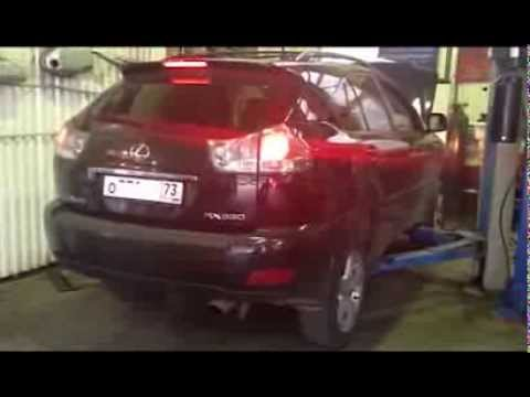 Замена трех катализаторов на пламегасители Lexus RX. Москва.