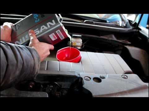 Замена масла и фильтра в вариаторе. Nissan Murano Z51 Ниссан Мурано 2010 года