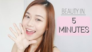 getlinkyoutube.com-5 Minutes Makeup Challenge Indonesia | Tips and Tricks for Quick Makeup | Eng sub | Molita Lin