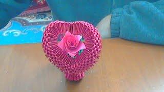 getlinkyoutube.com-HOW TO MAKE A 3D ORIGAMI HEART