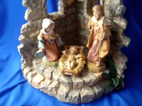 fontani nativity music box playing silent night