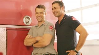 getlinkyoutube.com-ET Behind-the-Scenes: The Stars of 'Chicago Fire' Sizzle in Sexy Photo Shoot!