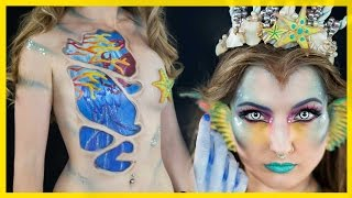 getlinkyoutube.com-Mandarin Mermaid | NYX FACE AWARDS 2015 | Top 12